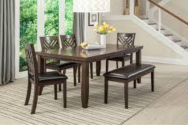 lebaron table 4 side chairs bench