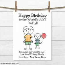 special birthday cards for dad with name online greeting card
