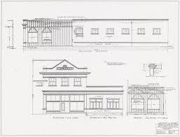 addition to store front and side elevation also framing elevations