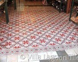 stock image of vintage style floor tile pattern texture and