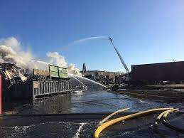 fire at san leandro salvage yard under control after hours sfgate