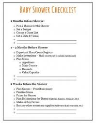 list of baby shower baby shower checklist to help plan the baby shower party