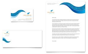 swimming pool cleaning service business card u0026 letterhead template