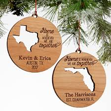 state of personalized couples ornaments