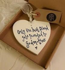godmother gifts to baby godmother best friend gift handmade heart plaque sign boxed ivory