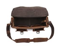 ledermann multi pocket rugged leather briefcase backpack men