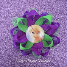 tinkerbell ribbon tinkerbell hair bow tinkerbell inspired by trulymagicalboutique