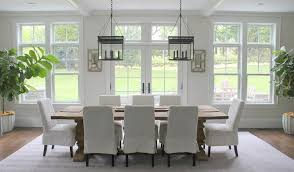 slipcover dining chairs skirted slipcovered dining chairs transitional room regarding modern