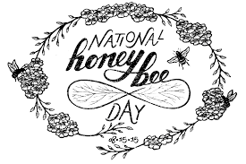 national honey bee day 2015 postcard on behance