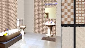 modern home interior ideas elegant digital tiles design for bathroom in modern home interior