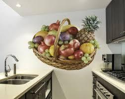 wall fruit basket fruit basket decal etsy