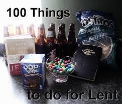 100 things to do for lent held by his pierced handsheld by his