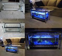 fish tank coffee table diy to diy aquarium coffee table