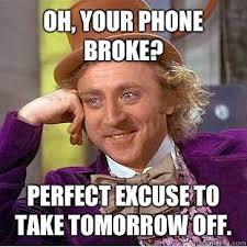 Broken Phone Meme - condescending wonka memes quickmeme