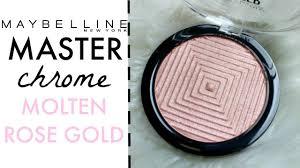 Maybelline Master Chrome new maybelline master chrome highlighter molten gold