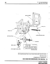honda hs55 track type snowblower reverse and forward speeds