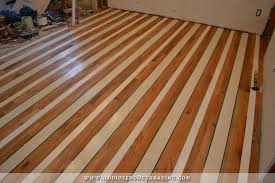 kitchen progress painted striped hardwood floor