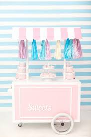 baby s birthday candy bar decor for baby s or child s birthday party stock photo