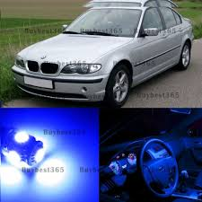 bmw blue interior 10x error free white blue led lights bulb interior package kit