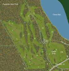 Wisconsin State Park Map by Peninsula State Park Golf Course