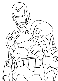 iron man hero coloring pages for kids printable free gridding