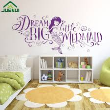 Wall Decor For Baby Room Big Mermaid Room Walls Decoration Quotes Vinyl