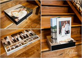 Leather Bound Wedding Album Custom Wedding Album And Box U2013 Gilmore Studios Products Orange