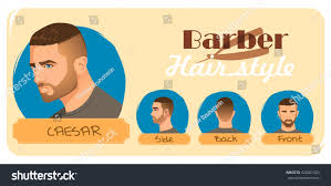 mens haircut hairstyle caesar haircut barber stock vector