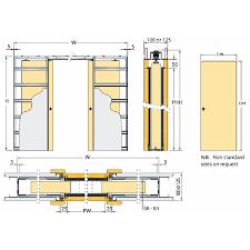 Standard Interior Wall Thickness Eclisse Sliding Pocket Door System Double Door Kit To Suit