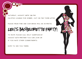 bachelorette party invite wording plumegiant com