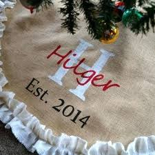 tree skirt burlap tree skirt tree skirt est date wedding