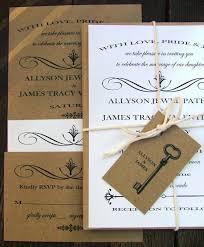 wedding invitations skeleton key modern vintage wedding