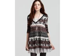 fair isle sweater dress lyst free cabin fever fair isle sweater in black