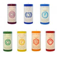 chakra pillar candles journey blended candle set
