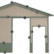 How To Build A Lean To On A Pole Barn Pole Barn Steel Trim And Accessories By Midwest Manufacturing