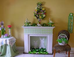 Easter Decorating Ideas For The Home by Using Paper Products To Help Decorate Your Fireplace For Spring
