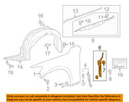 lexus is350 toyota lexus toyota oem 14 16 is350 fender protector bracket support left