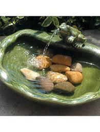 ceramic solar frog fountain ground level gardeners com