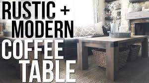 rustic modern coffee table shanty2chic youtube