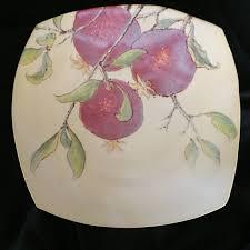 painted platter pomegranate painted platter