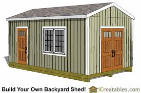 How To Build A Small Backyard Storage Shed by 12x20 Shed Plans Easy To Build Storage Shed Plans U0026 Designs