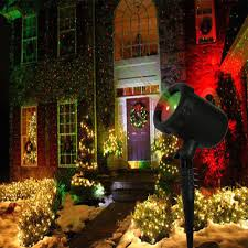 outdoor laser light christmas decoration red and green light