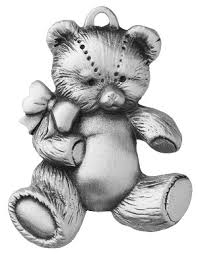 loveable teddy pewter ornament made in new hshire usa