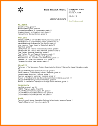 List Of Accomplishments For Resume Examples by List Of Accomplishments For Resume Examples Free Resume Example