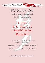 Invitation Card For Grand Opening Community Ecs Design