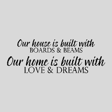 our house is built home wall quotes words decals lettering