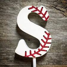 baseball themed wedding baseball themed wedding cake topper wood single monogram cake