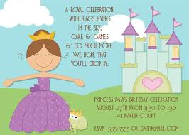 birthday invitation words princess birthday party invitations wording drevio invitations