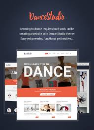 wordpress templates for websites dance studio wordpress theme for dancing schools u0026 clubs by