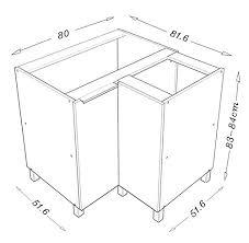 meuble cuisine angle bas berlioz creations cg8bb meuble d angle bas cuisine avec porte